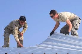 metal roofing installers